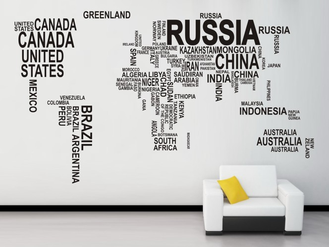Wall signs for the home wall stickers beeprinting australia world map wall decal australia gumiabroncs Image collections