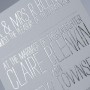 Fance Foil Stamping Wedding Invitation Australia