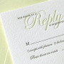 debossing Wedding Response Card Printing Australia